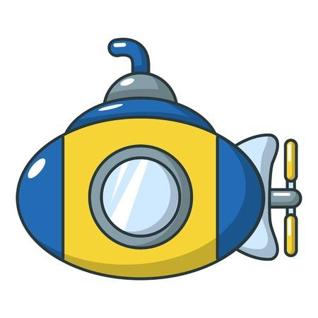 Submarine icon, cartoon style
