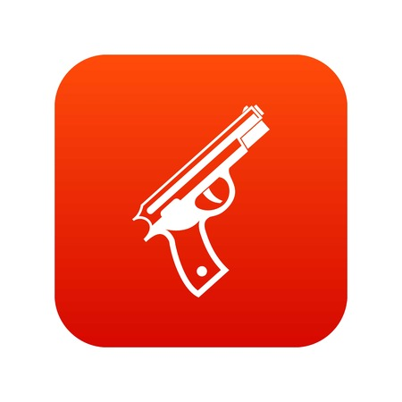 Gun icon digital red Illustration
