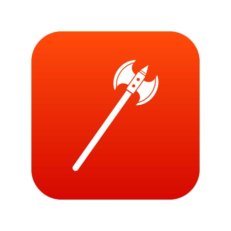 Poleaxe icon digital red