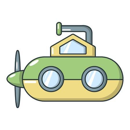 Submarine periscope icon, cartoon style