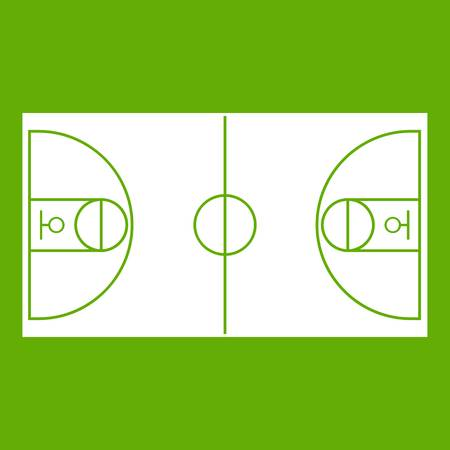 Icône de champ de basket-ball vert