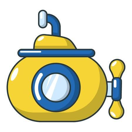 Submarine ocean icon, cartoon style