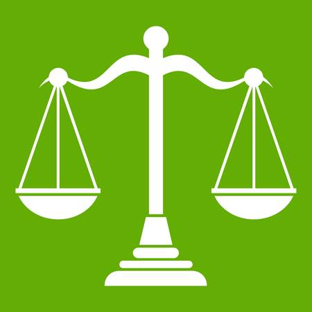 Balance scale icon green