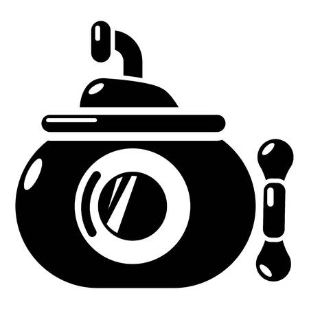 Submarine ocean icon. Simple illustration of submarine ocean vector icon for web