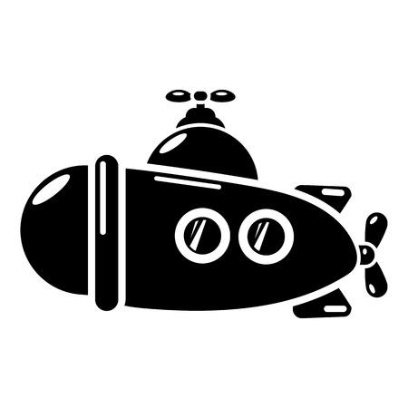 Submarine sea icon. Simple illustration of submarine sea vector icon for web