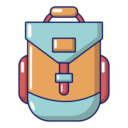 Backpacking icon. Cartoon illustration of backpacking vector icon for web