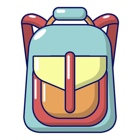 Backpack element icon. Cartoon illustration of backpack element vector icon for web