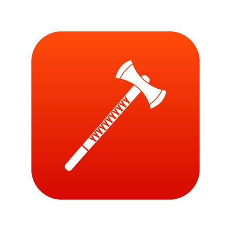Big ax icon digital red for any design isolated on white vector illustration