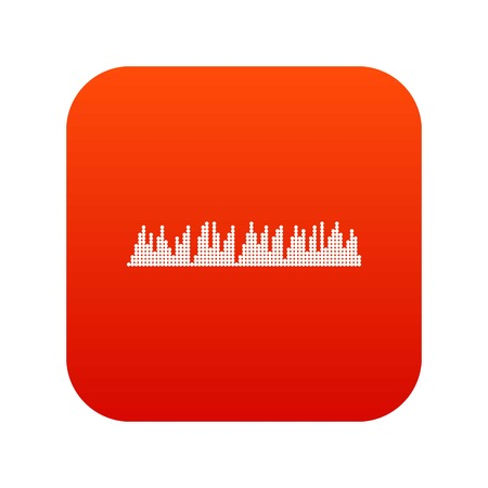 Audio digital equalizer technology icon digital red for any design isolated on white vector illustration