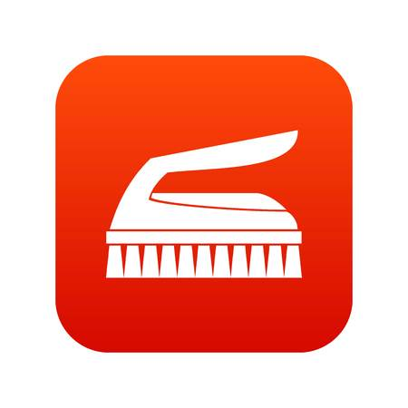Brush for cleaning icon digital red for any design isolated on white vector illustration Illustration