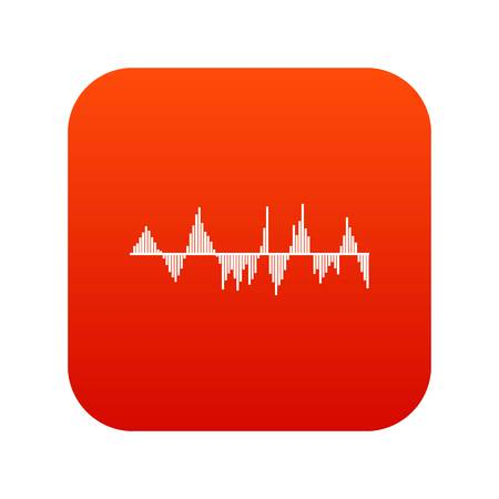 soundtrack: Audio digital equalizer technology icon digital red for any design isolated on white vector illustration