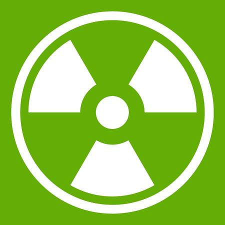 irradiation: Danger nuclear icon green Illustration