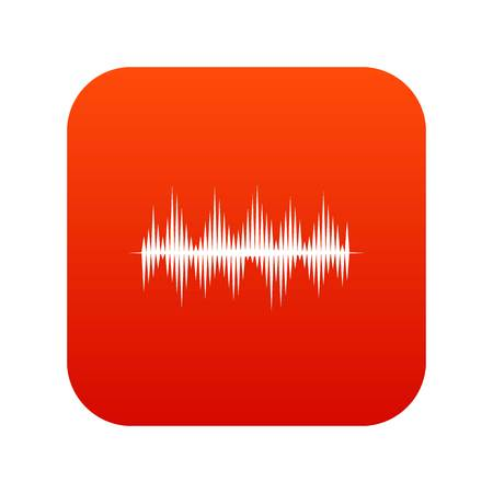 Audio digital equalizer technology icon digital red Illustration