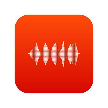soundtrack: Audio digital equalizer technology icon digital red Illustration