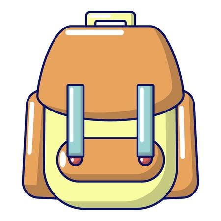 Rucksack icon, cartoon style