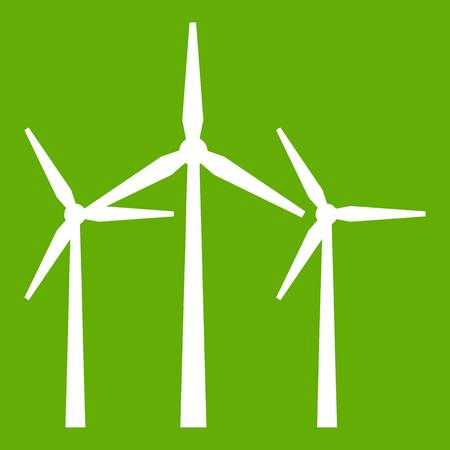 Wind turbines icon green