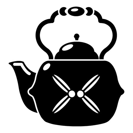 Kettle vintage icon. Simple illustration of kettle vintage vector icon for web Illustration