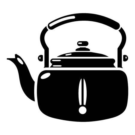 thermal: Kettle break icon. Simple illustration of kettle break vector icon for web