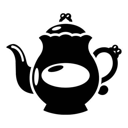 Kettle porcelain icon. Simple illustration of kettle porcelain vector icon for web Illustration