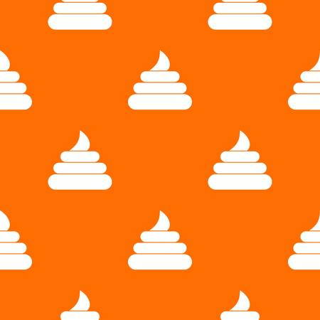 bowels: Turd pattern repeat seamless in orange color for any design. Vector geometric illustration