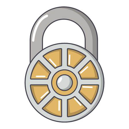 Lock modern icon, cartoon style