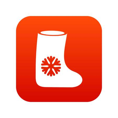 Felt boots icon digital red
