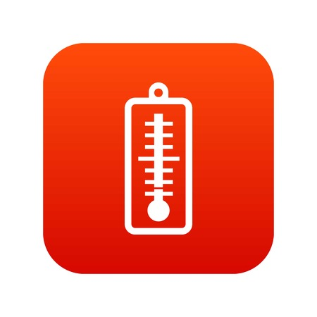 Thermometer indicates low temperature icon digital red for any design isolated on white vector illustration