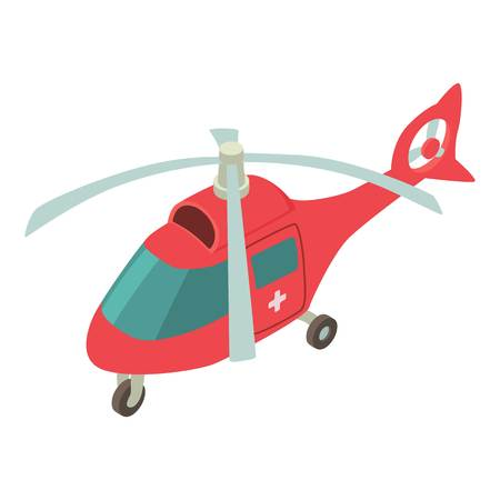 Helicopter icon. Isometric illustration of helicopter vector icon for web