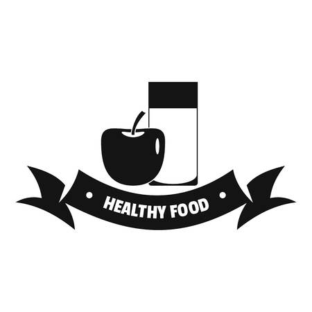 Healthy food logo. Simple illustration of healthy food vector logo for web Illustration