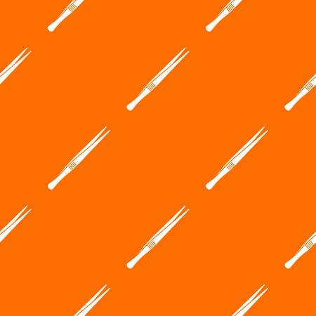 Tweezers pattern seamless Illustration