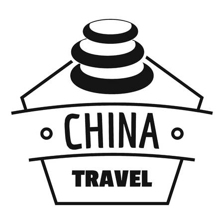 China trip logo. Simple illustration of china trip vector logo for web