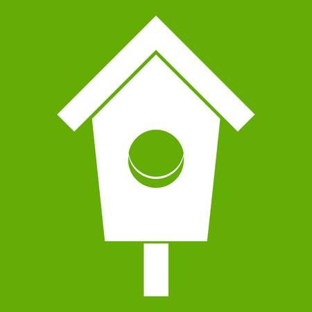 Birdhouse icon green