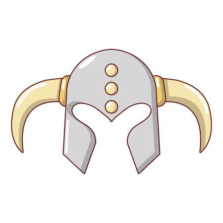 Viking helmet classic icon. Cartoon illustration of viking helmet classic vector icon for web