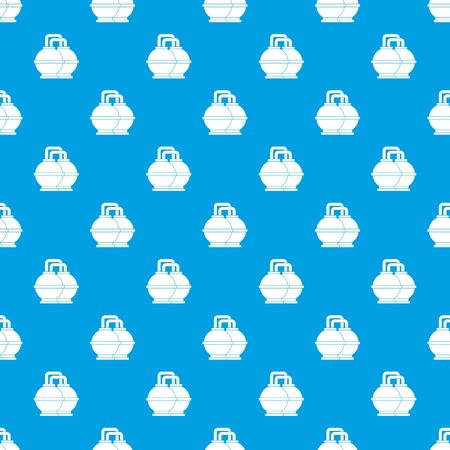 Industrial tanks for petrol and oil pattern seamless blue Illustration