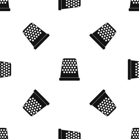 Thimble pattern seamless black