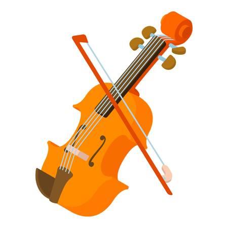 Contrabass icon, isometric style Vettoriali
