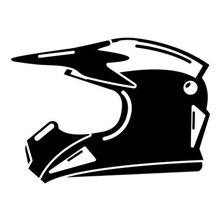 Motorhelm pictogram. Eenvoudige illustratie van motorhelm vector pictogram voor web