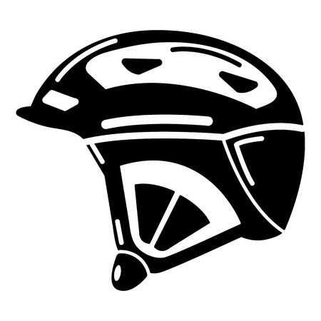 Bike helmet icon, simple black style