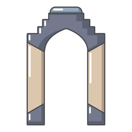 Cartoon illustration of archway vector icon for web