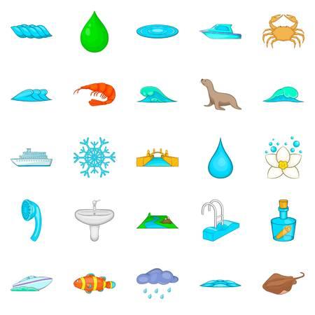 Basin icons set. Cartoon set of 25 basin vector icons for web isolated on white background