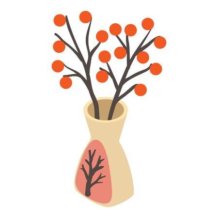 Vase icon. Isometric illustration of vase vector icon for web