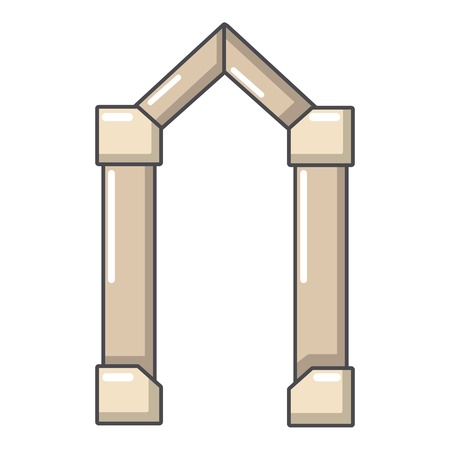 Archway element icon. Cartoon illustration of archway element vector icon for web