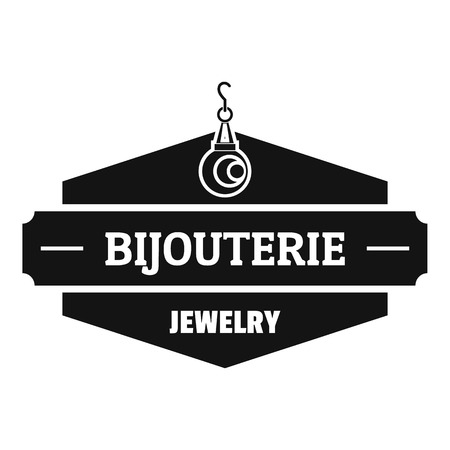 Jewelry shop logo. Simple illustration of jewelry shop vector logo for web