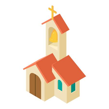 Church icon. Isometric illustration of church vector icon for web