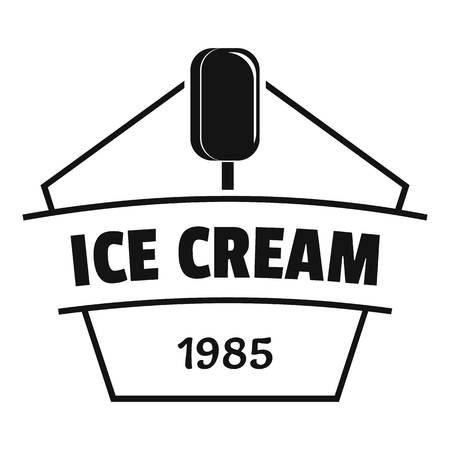 Ice cream logo. Simple illustration of ice cream vector logo for web