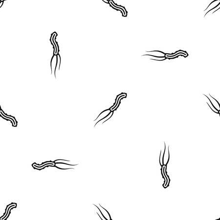 Dangerous virus pattern repeat seamless in black color for any design. Vector geometric illustration
