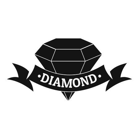 diamond earrings: Diamond logo. Simple illustration of diamond vector logo for web