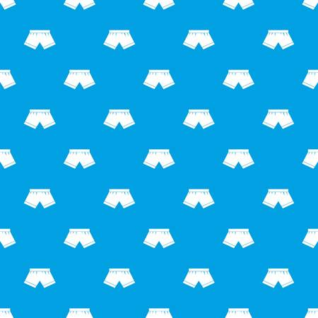 Male underwear pattern repeat seamless in blue color for any design. Vector geometric illustration