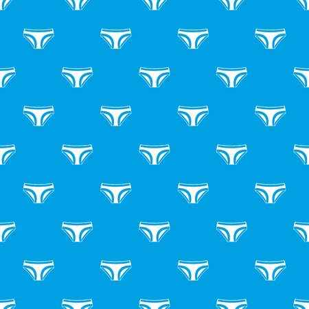 Female underwear pattern repeat seamless in blue color for any design. Vector geometric illustration