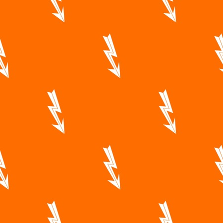 Arrow lightning pattern repeat seamless in orange color for any design. Vector geometric illustration